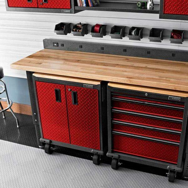 Composizione carrello su ruote rosso Garage Mania GAGB272DDR