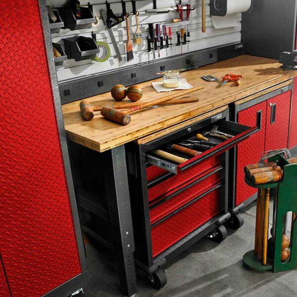 Composizione cassettiera su ruote per attrezzi Garage Mania GAGD275DDR