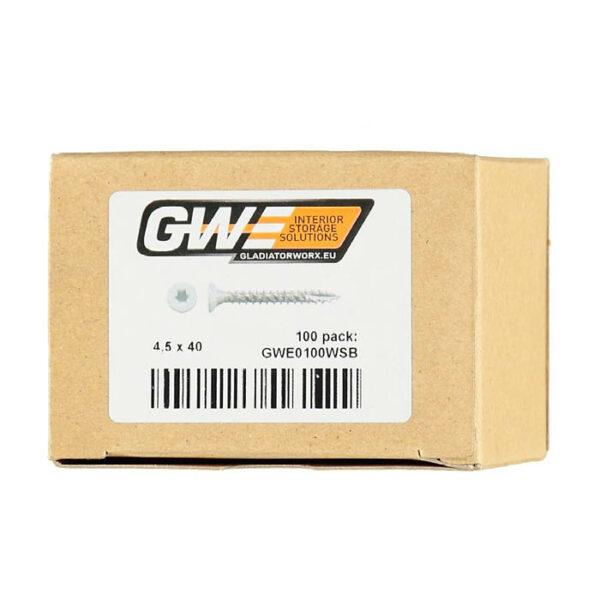 GWE0100WSB VITI IN TINTA confezione da 100 Garage Mania