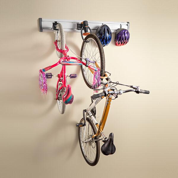 Kit per aggancio 4 biciclette a parete Garage Mania GAKT48BKGY
