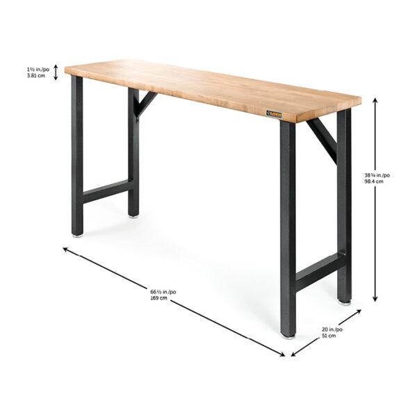 Piano di lavoro legno Hardwood GAWB66HWGG